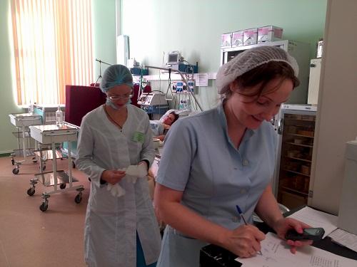 В реанимационной палате хирургического отделения больницы cвятителя Алексия