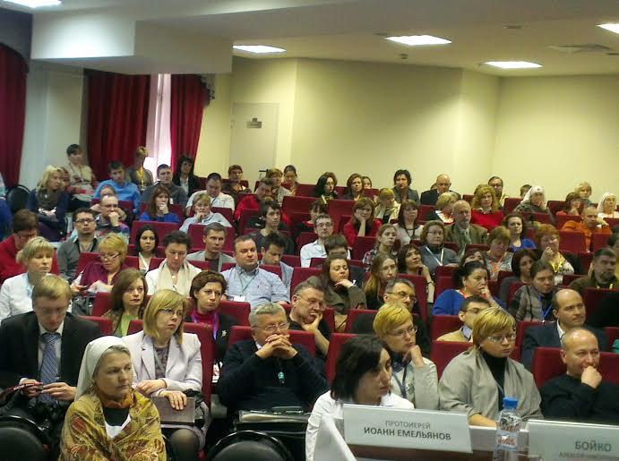 Участники конференции программы клинико-образовательного комплекса обучения «STROKE» в Первой Градской больнице Москвы
