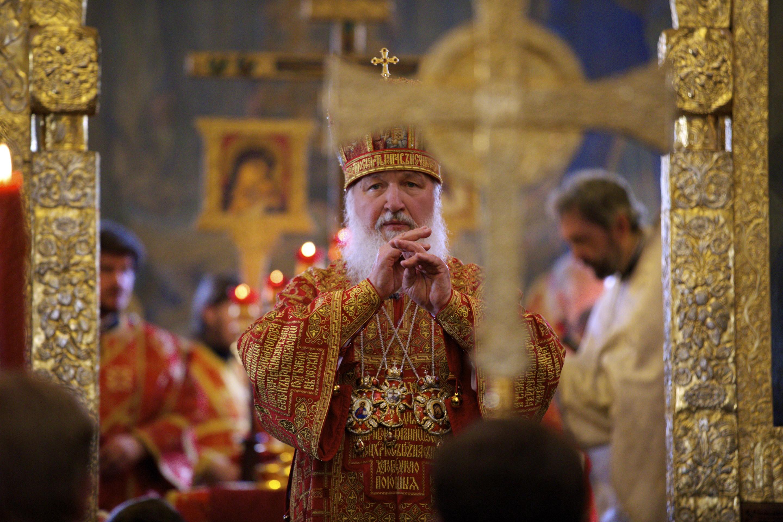 Патриарх Кирилл. Литургия в Марфо-Мариинской обители милосердия