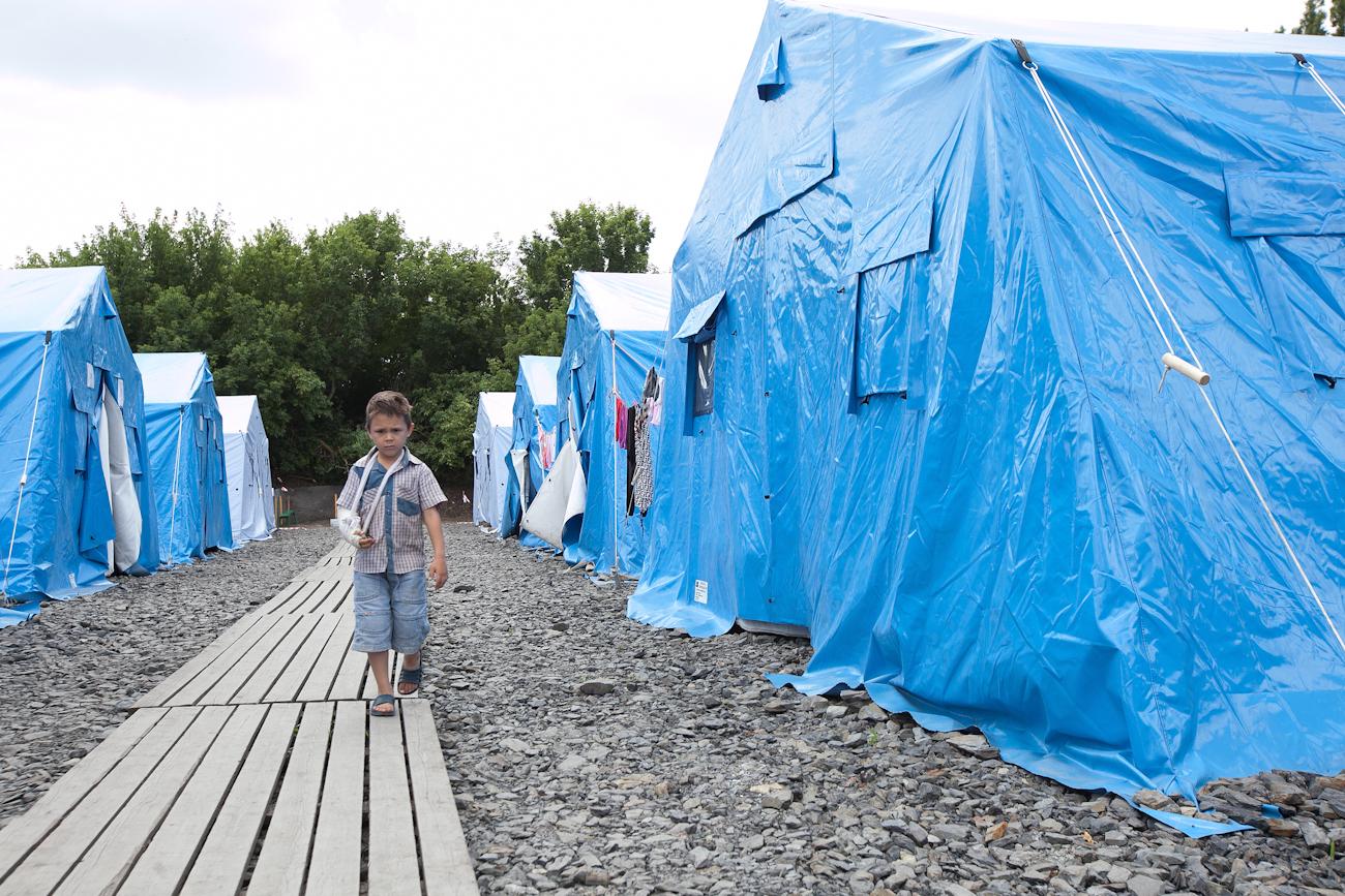 В приграничном палаточном лагере возле Новошахтинска