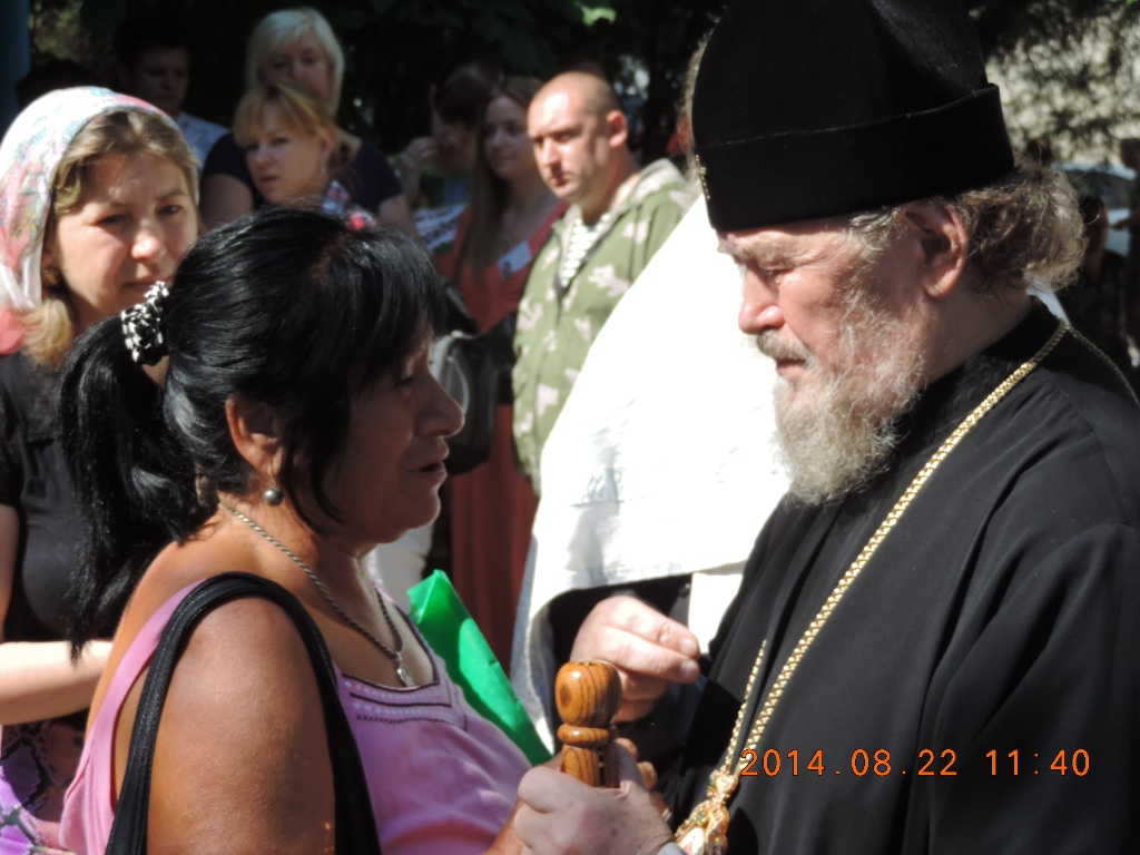 Митрополит Лазарь совершил молебен для беженцев и вынужденных переселенцев