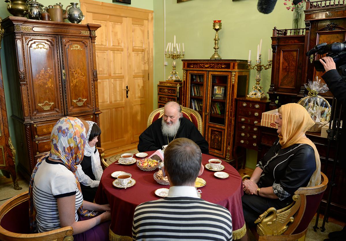 Патриарх Кирилл c семьей Филимоновых