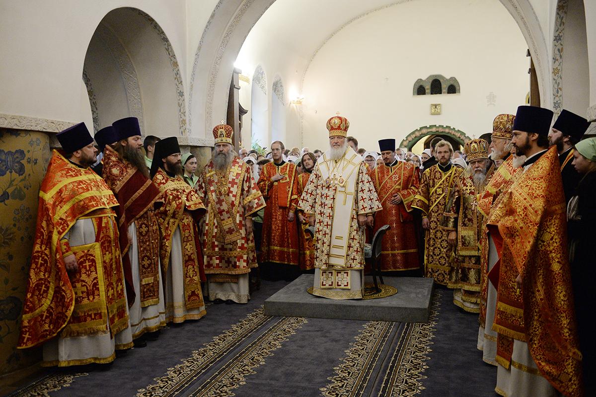Божественная литургия в Марфо-Мариинской обители милосердия