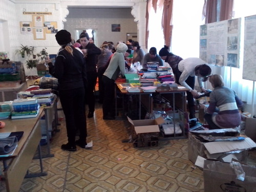 Свято-Петровская школа при ПСТГУ отправила гуманитарную помощь средней школе г. Ровеньки на юго-востоке Украины