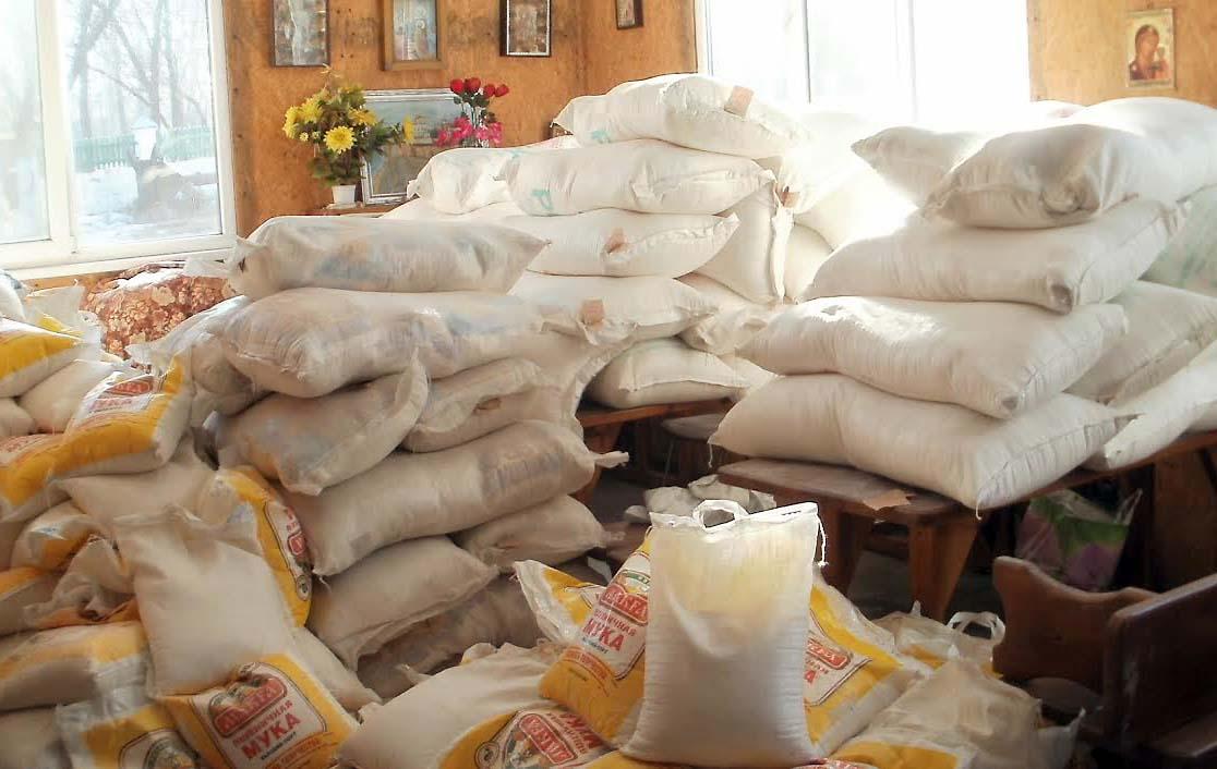 Мирным жителям из Донецкой епархии Церковь передала гуманитарную помощь