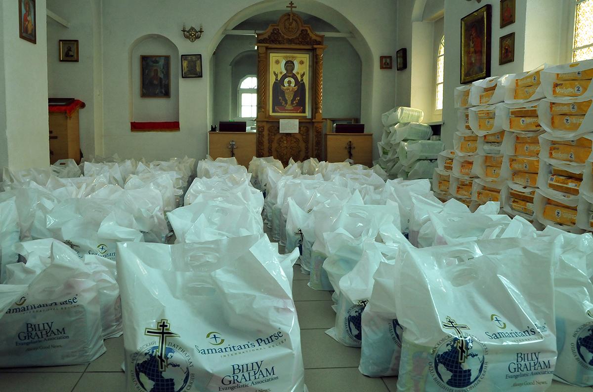 Отдел внешних церковных связей и благотворительная организация «Сума самарянина» начали оказывать помощь беженцам из Украины в Ростовской области