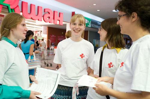 Волонтеры московской службы добровольцев «Милосердие»