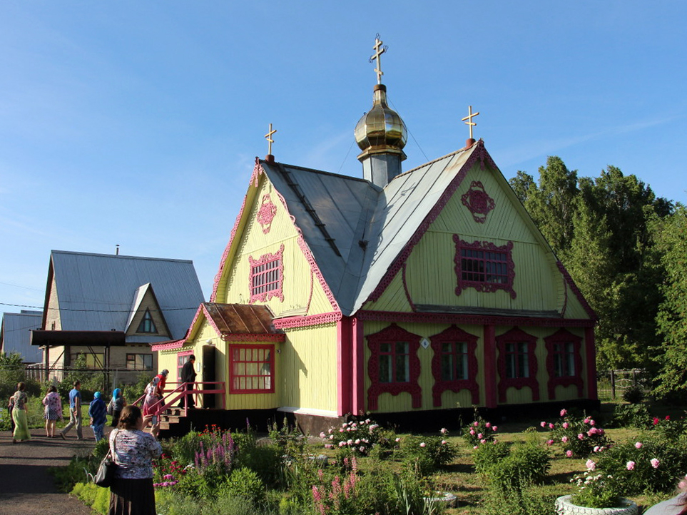 Свято-Никольский храм реабилитационного центра для наркозависимых «Лествица» в поселке Кузбасский