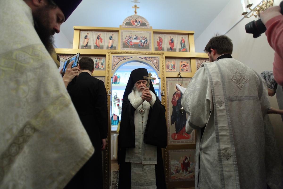 Епископ Орехово-Зуевский Пантелеимон освятил первый в России храм, посвященный святому Евгению Боткину