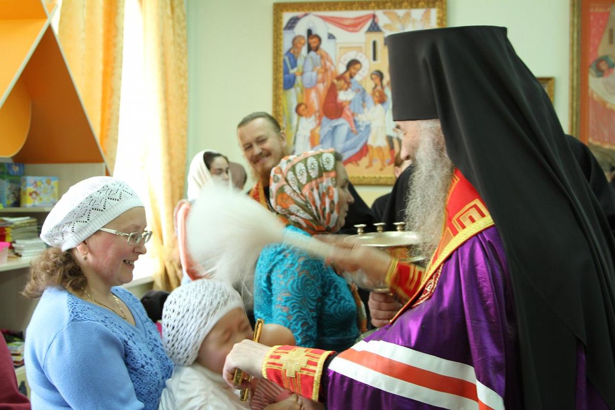 Освящение центра 23 мая совершил архиепископ Йошкар-Олинский и Марийский Иоанн
