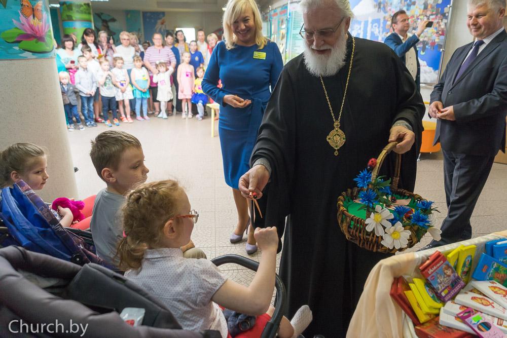 Патриарший экзарх всея Беларуси посетил Республиканский реабилитационный центр для детей-инвалидов в Минске
