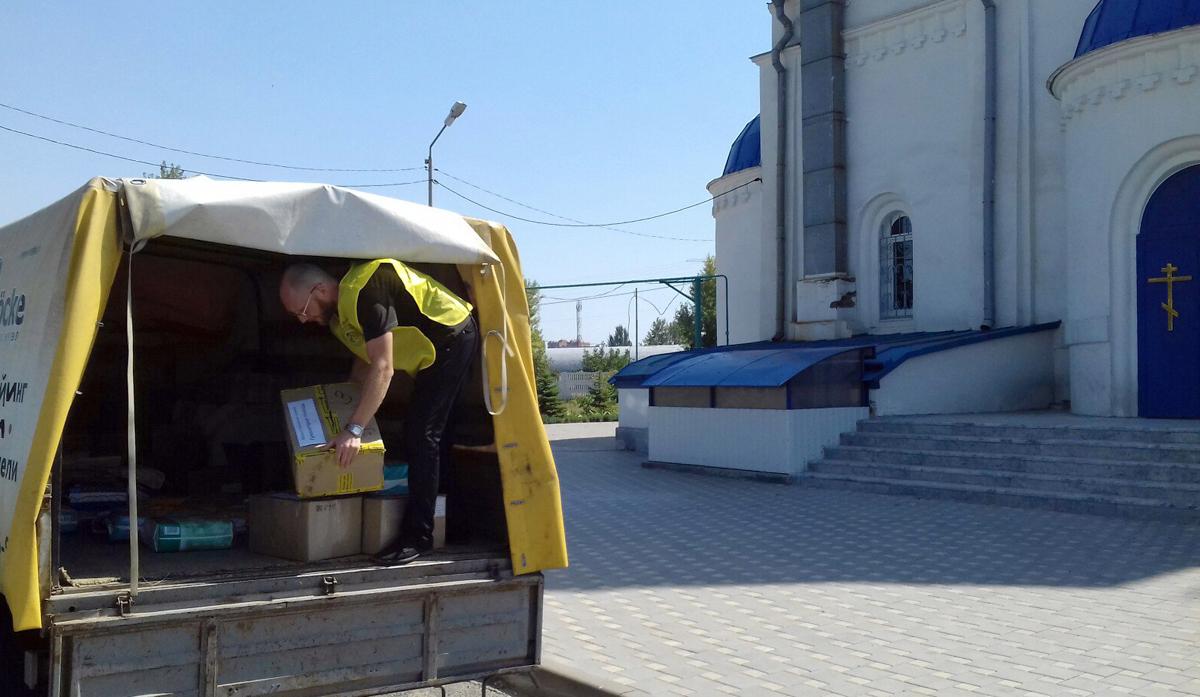 Ейская епархия отправила гуманитарную помощь для пострадавших при пожаре в Ростове-на-Дону