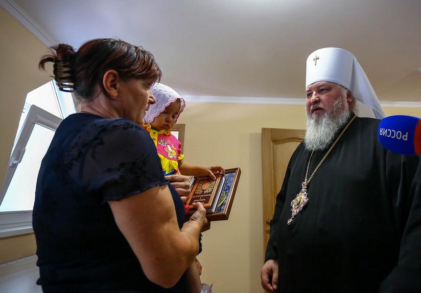28 августа торжественное открытие центра возглавил митрополит Ставропольский и Невинномысский Кирилл. Архипастырь совершил освящение центра, а также пообщался с его подопечными