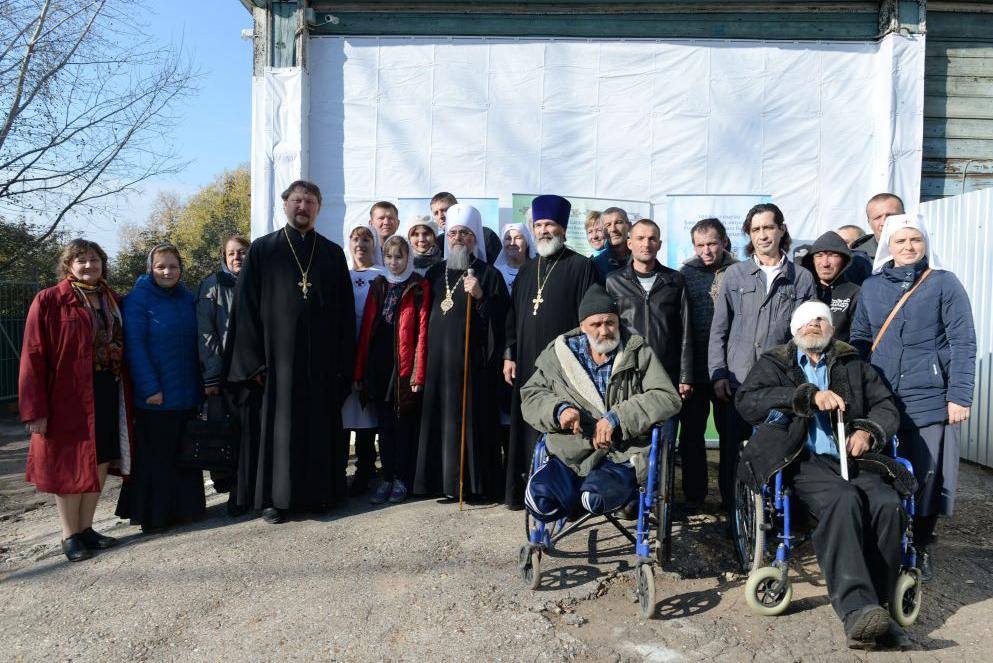 В открытии отремонтированного помещения центра принял участие митрополит Уфимский и Стерлитамакский Никон