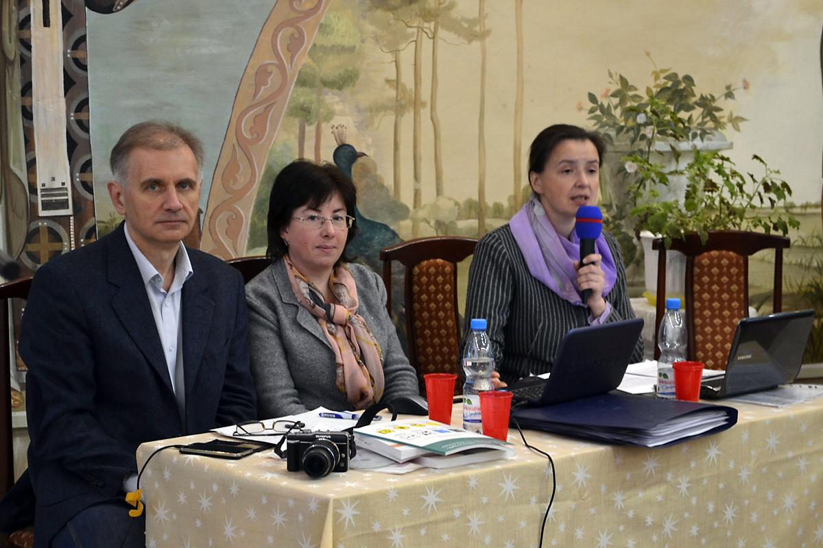 На фото: Сергей Чистый, Татьяна Зальцман и Вероника Леонтьева