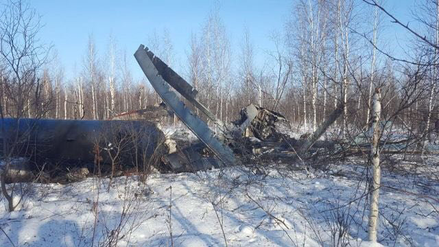 Место аварийной посадки вертолета Ми-8 в Томской области. Фото: СК РФ