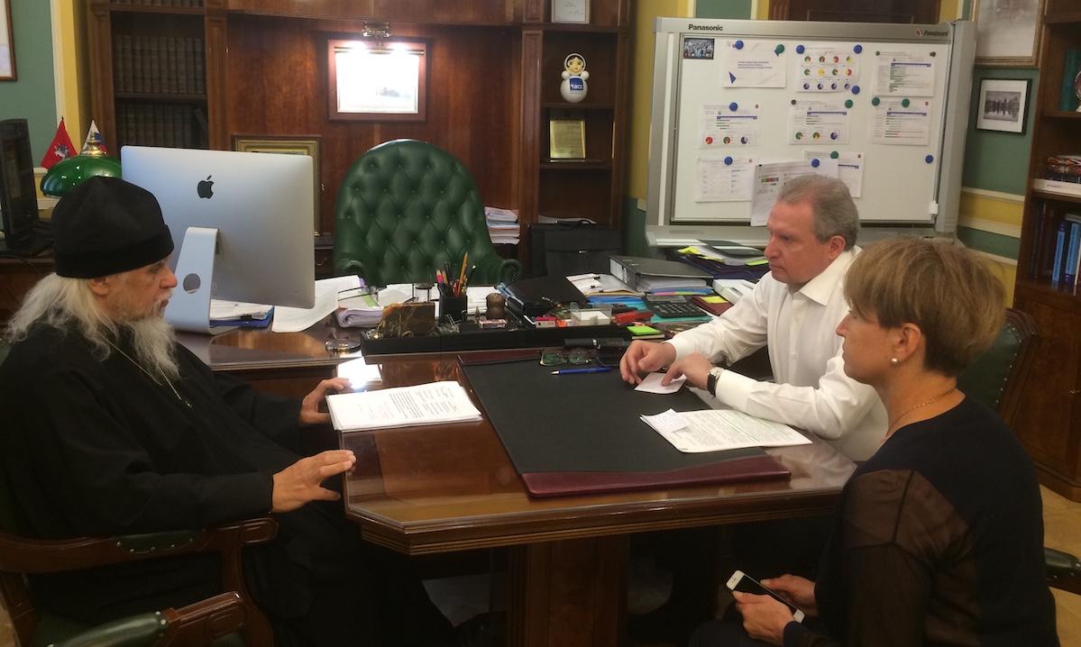 Председатель Синодального отдела встретился с директором Департамента здравоохранения Москвы