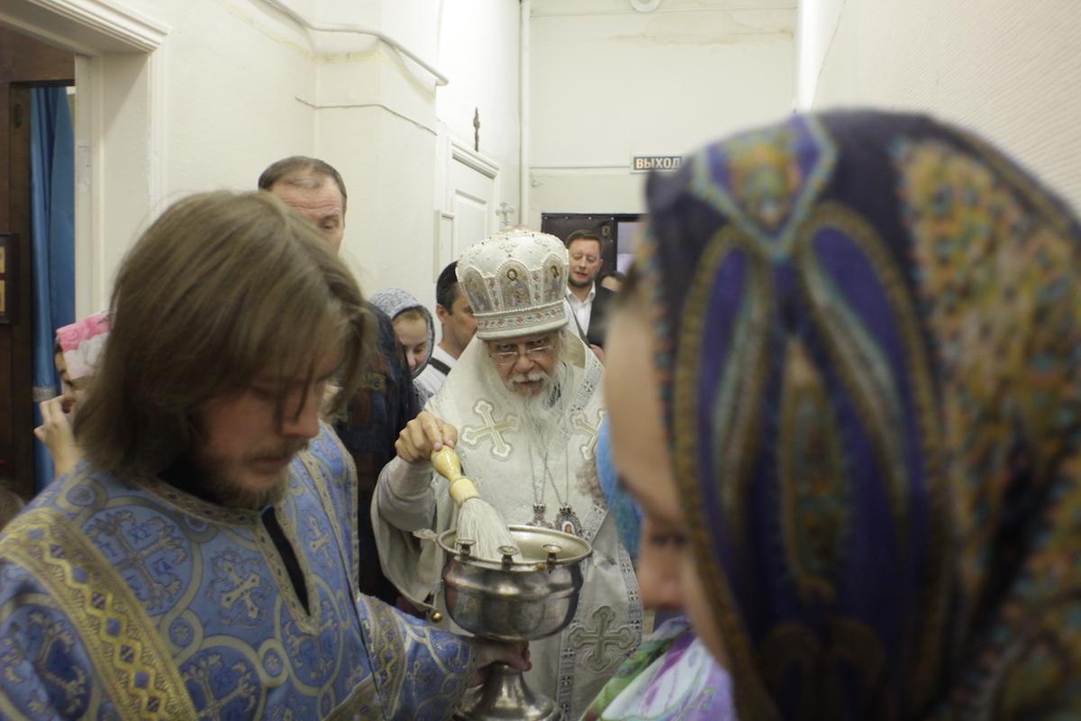 Епископ Пантелеимон освятил больничный храм при государственном научном центре дерматовенерологии