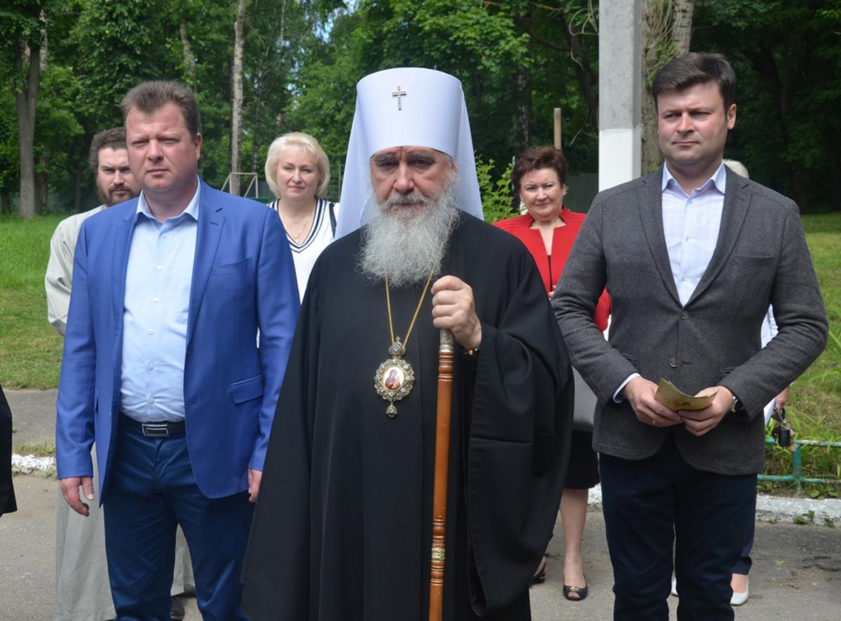 Митрополит Калужский и Боровский Климент на открытии кризисного центра для женщин