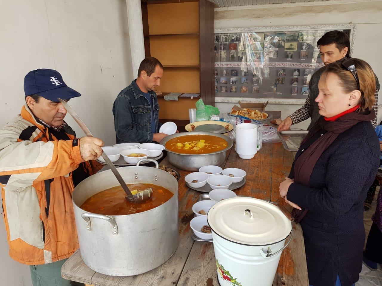 Благотворительная столовая открылась в рамках программы «Помощь соотечественникам в Таджикистане»