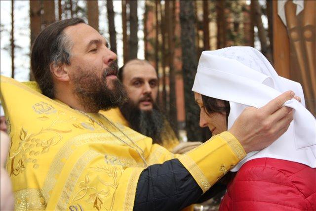 В Алапаевске на месте убиения Великой княгини Елисаветы Феодоровны состоялся чин посвящения в сестры милосердия