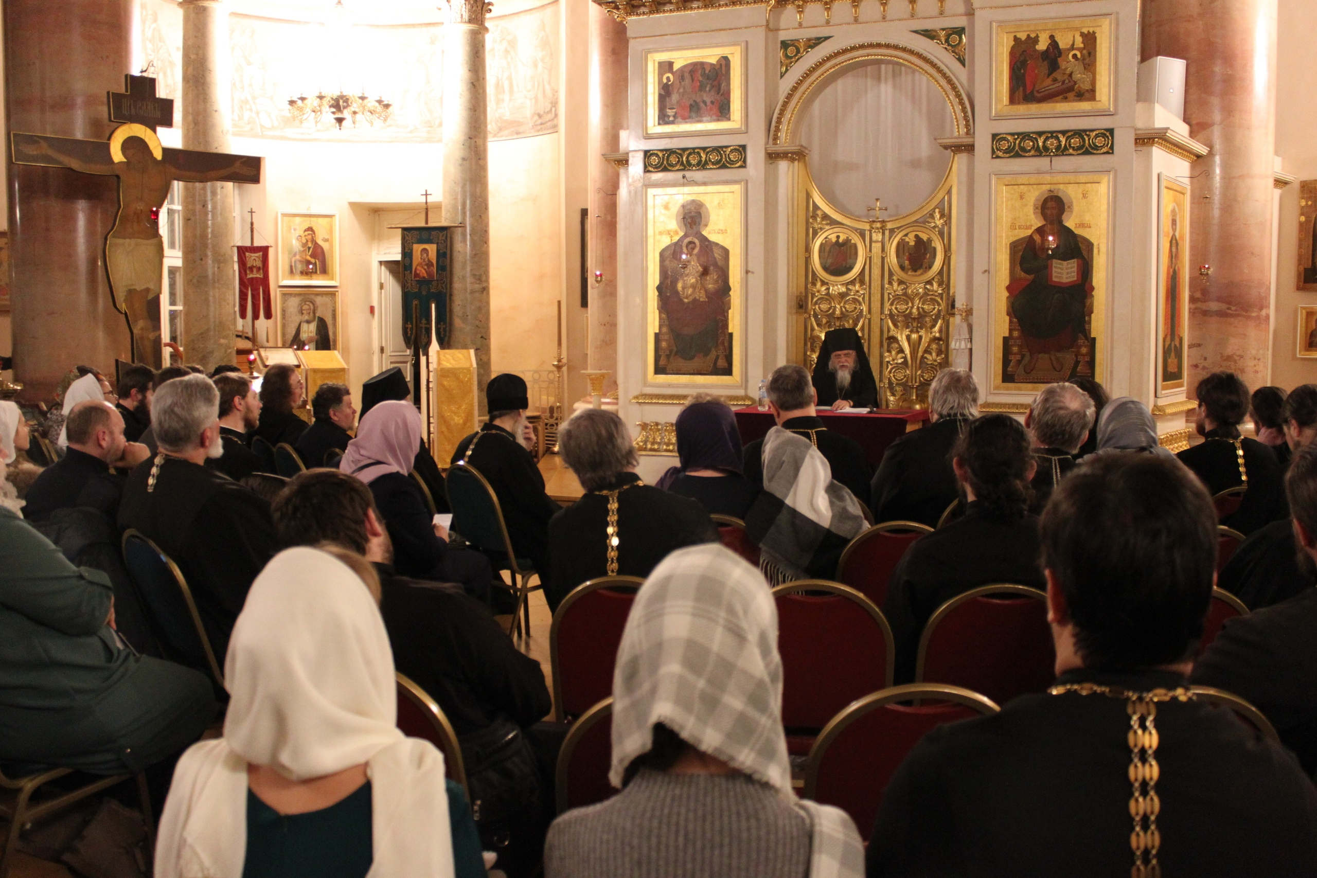 Встреча прошла в храме царевича Димитрия при Первой Градской больнице