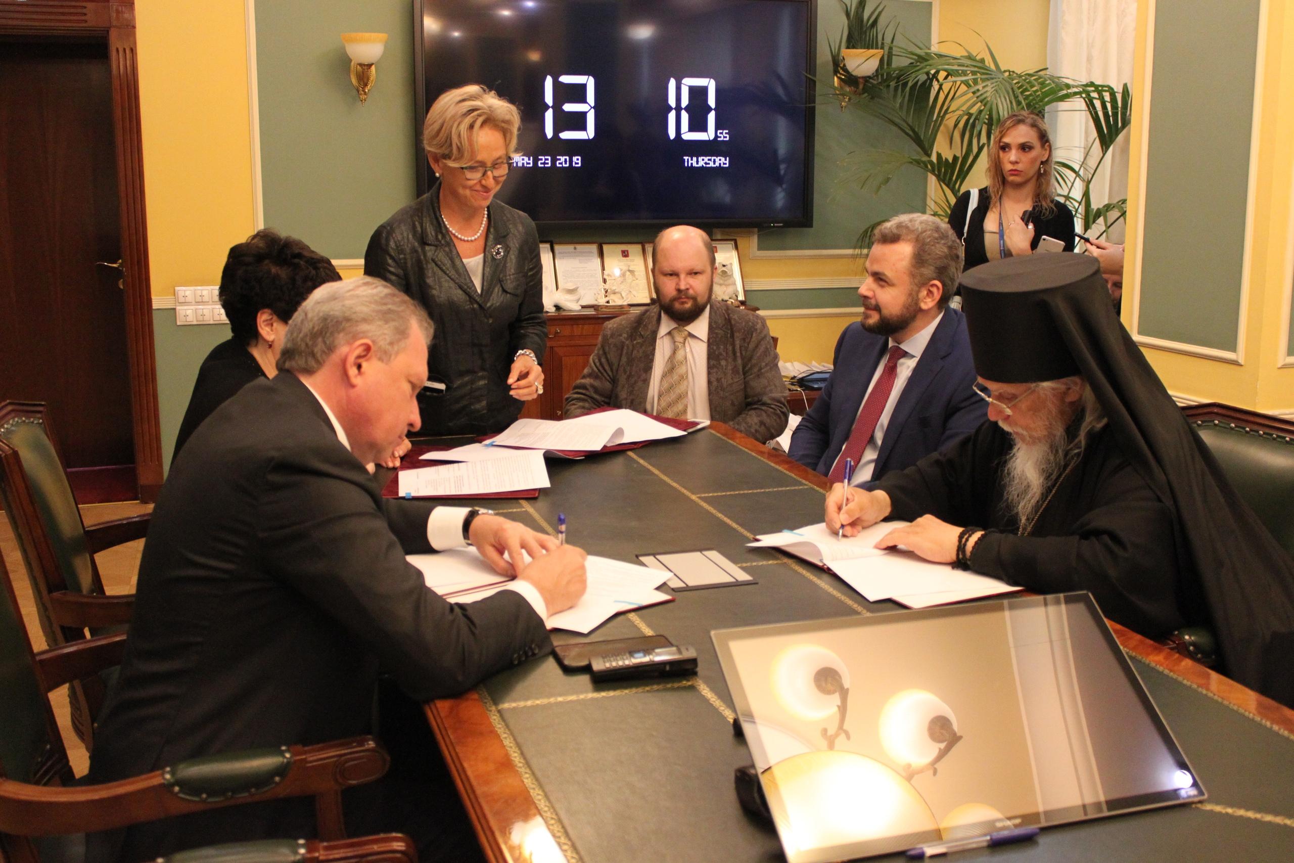 Синодальный отдел и Департамент здравоохранения Москвы подписали Соглашение о сотрудничестве