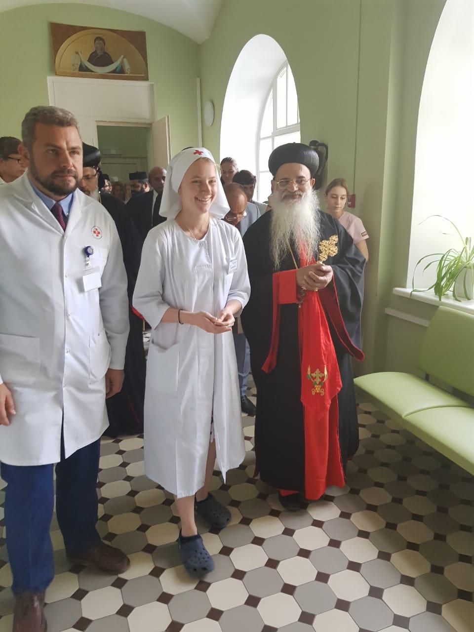Предстоятель Маланкарской Церкви посетил больницу святителя Алексия