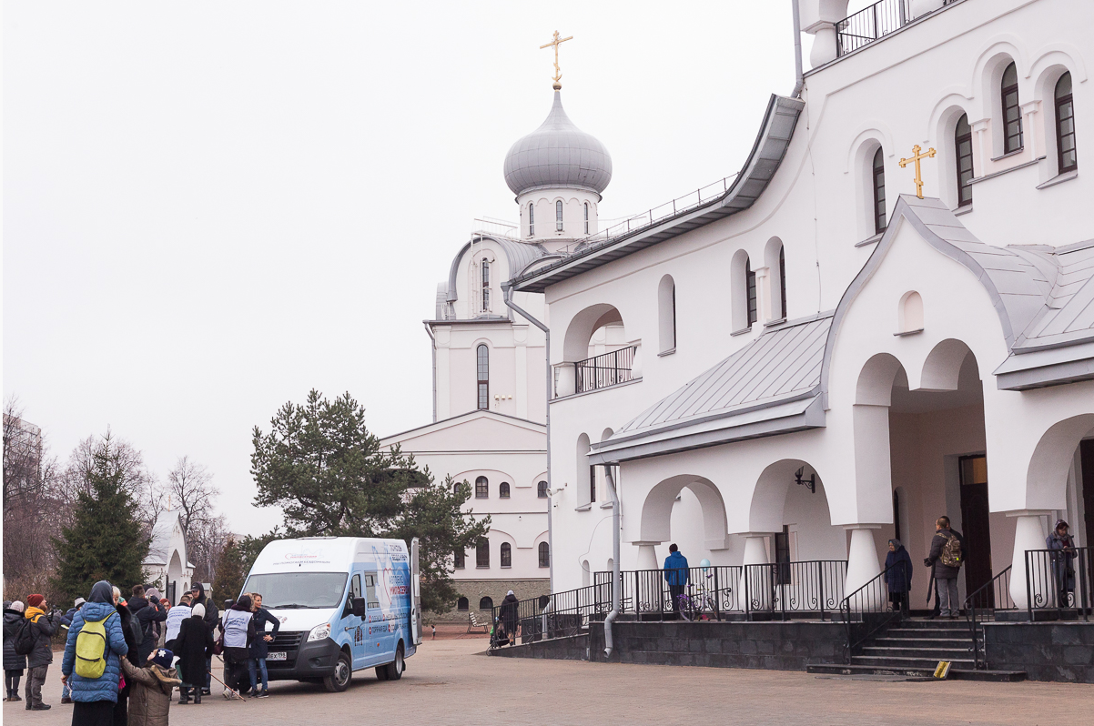 «Автобус Милосердия» для бездомных людей появился в Санкт-Петербурге