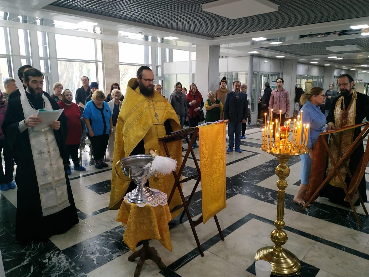 Молебен в НИИ скорой помощи имени Н. В. Склифосовского