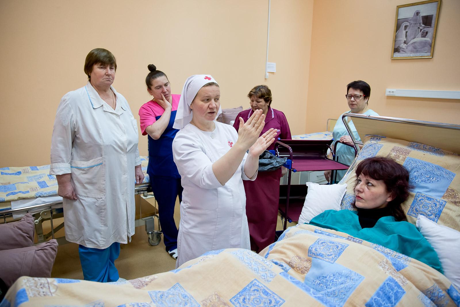 Занятия в Учебном центре больницы святителя Алексия. Фото: Елена Добрякова