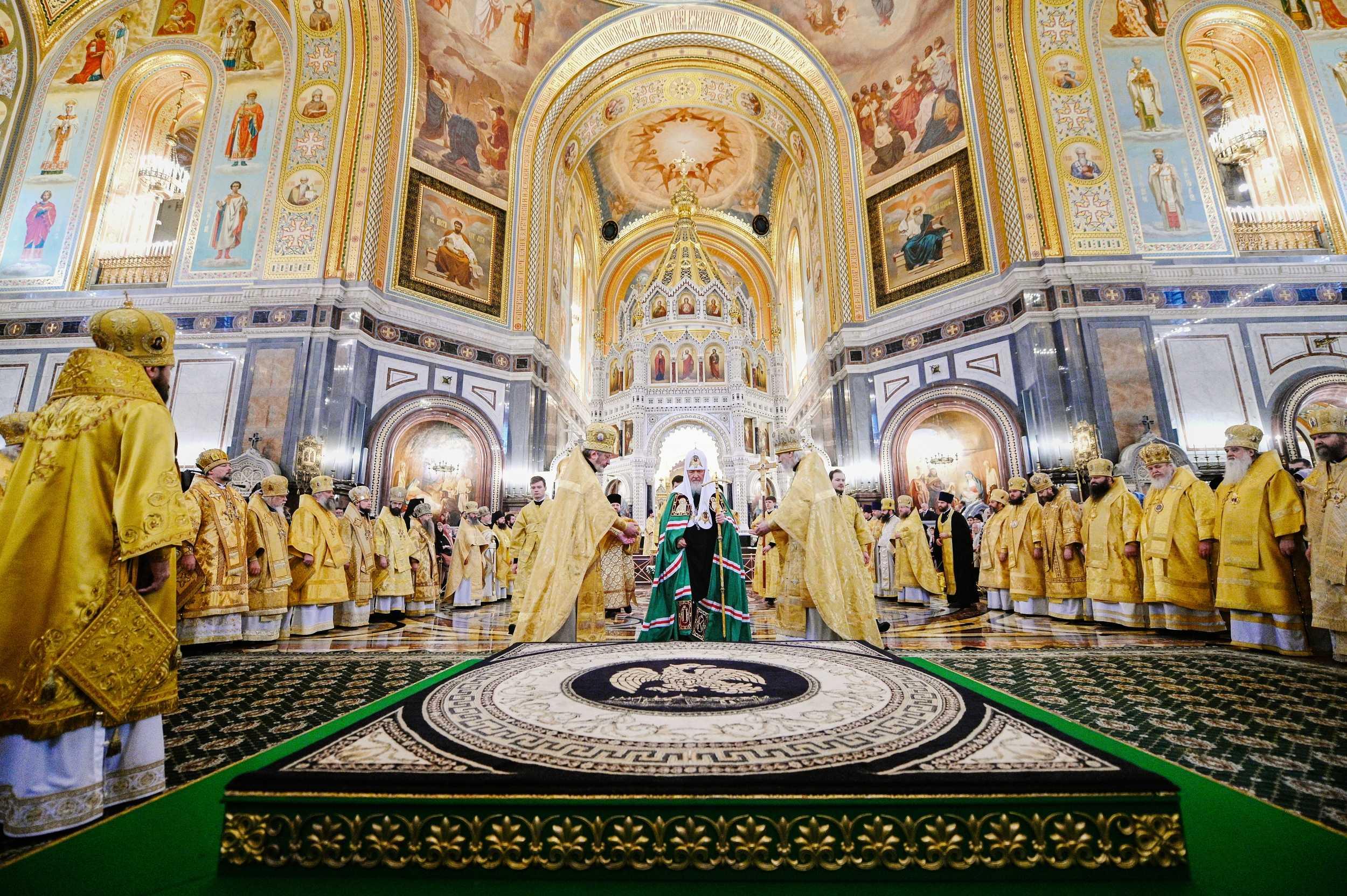 Патриаршее служение в Неделю Торжества Православия в Храме Христа Спасителя. Фото: Олег Варов