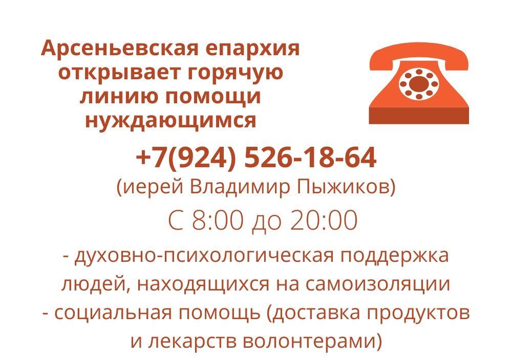В Приморье открыта горячая линия помощи людям на изоляции