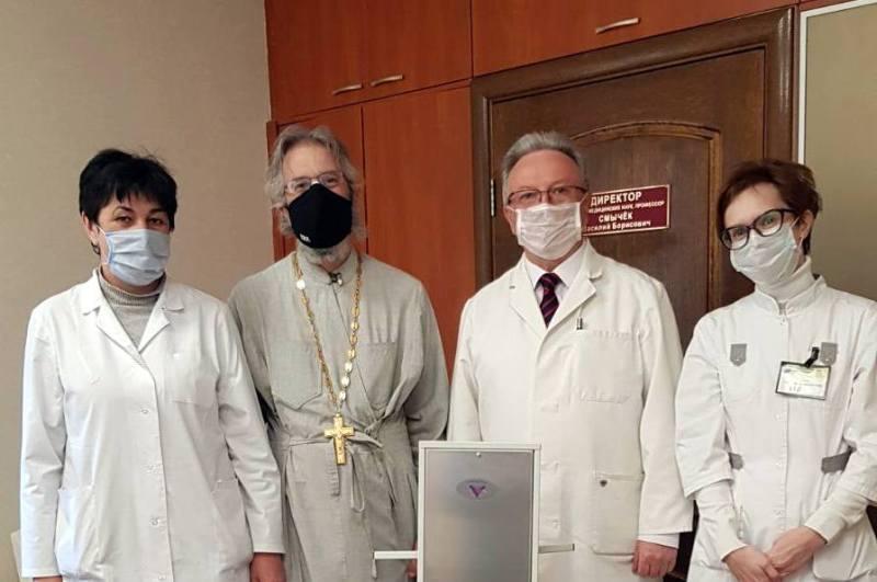 Белорусский экзархат передал медицинскому центру рециркуляторы воздуха