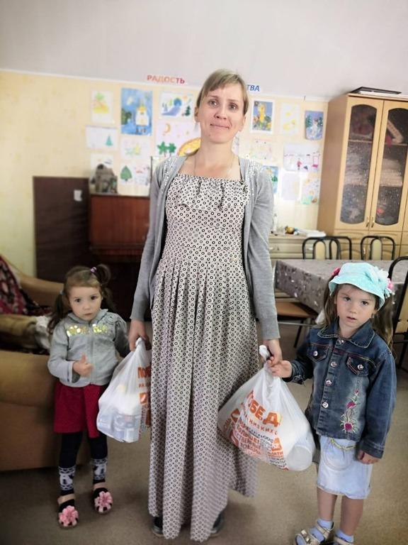 Получившие продуктовую помощь в Кинельской епархии