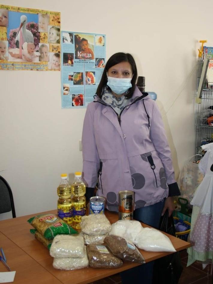 Получившие продуктовую помощь в Мариинской епархии