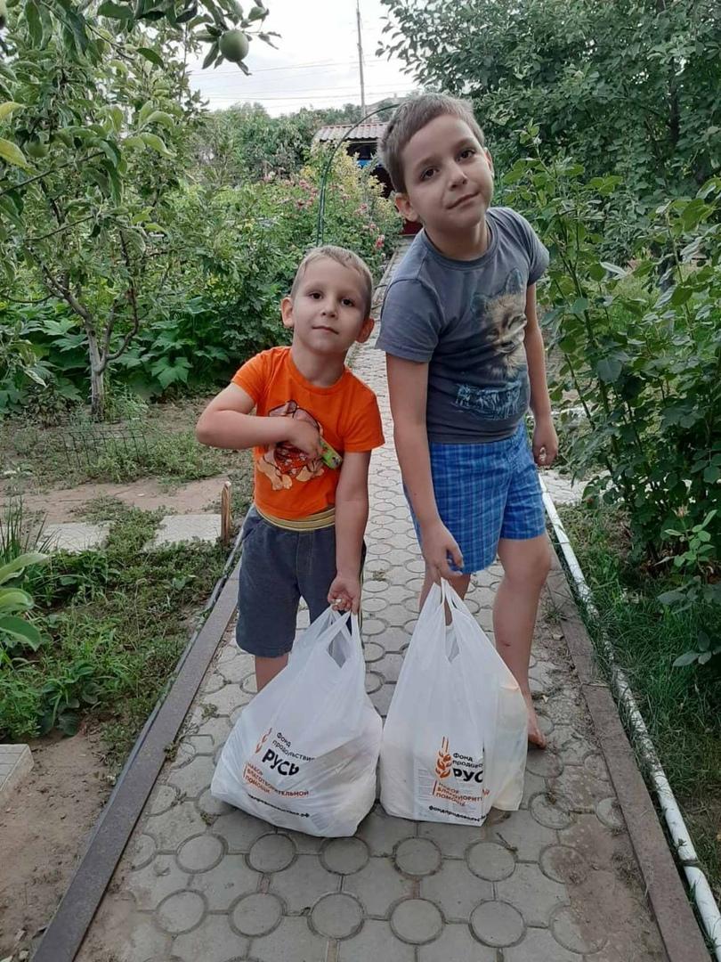 Передача продуктовой помощи в Волгоградской епархии