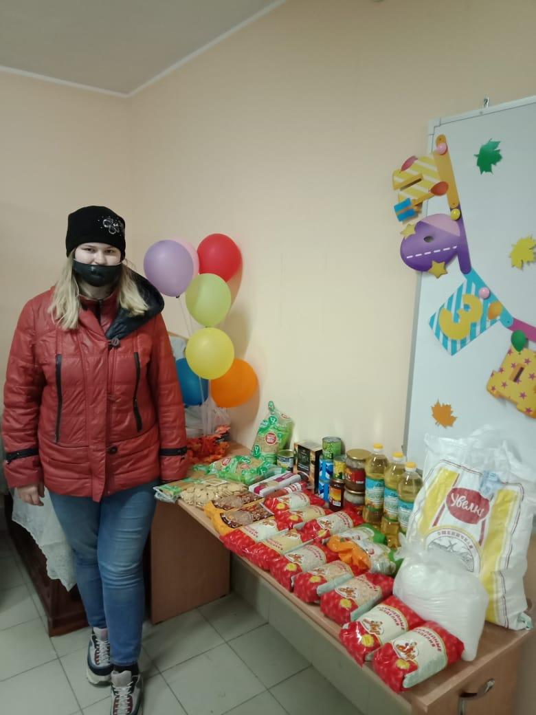 Получившие продуктовую помощь в Салаватской епархии