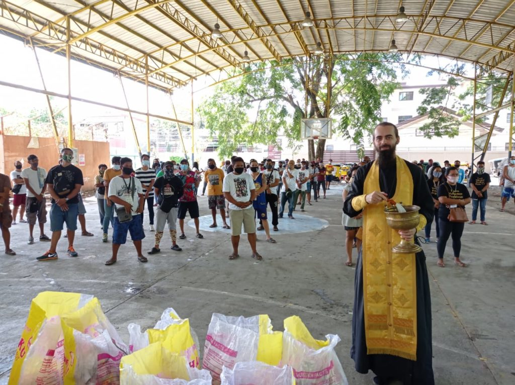Передача продуктовой помощи в Давао