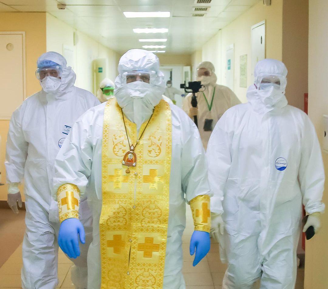Митрополит Нижегородский и Арзамасский Георгий в красной зоне больницы Бора