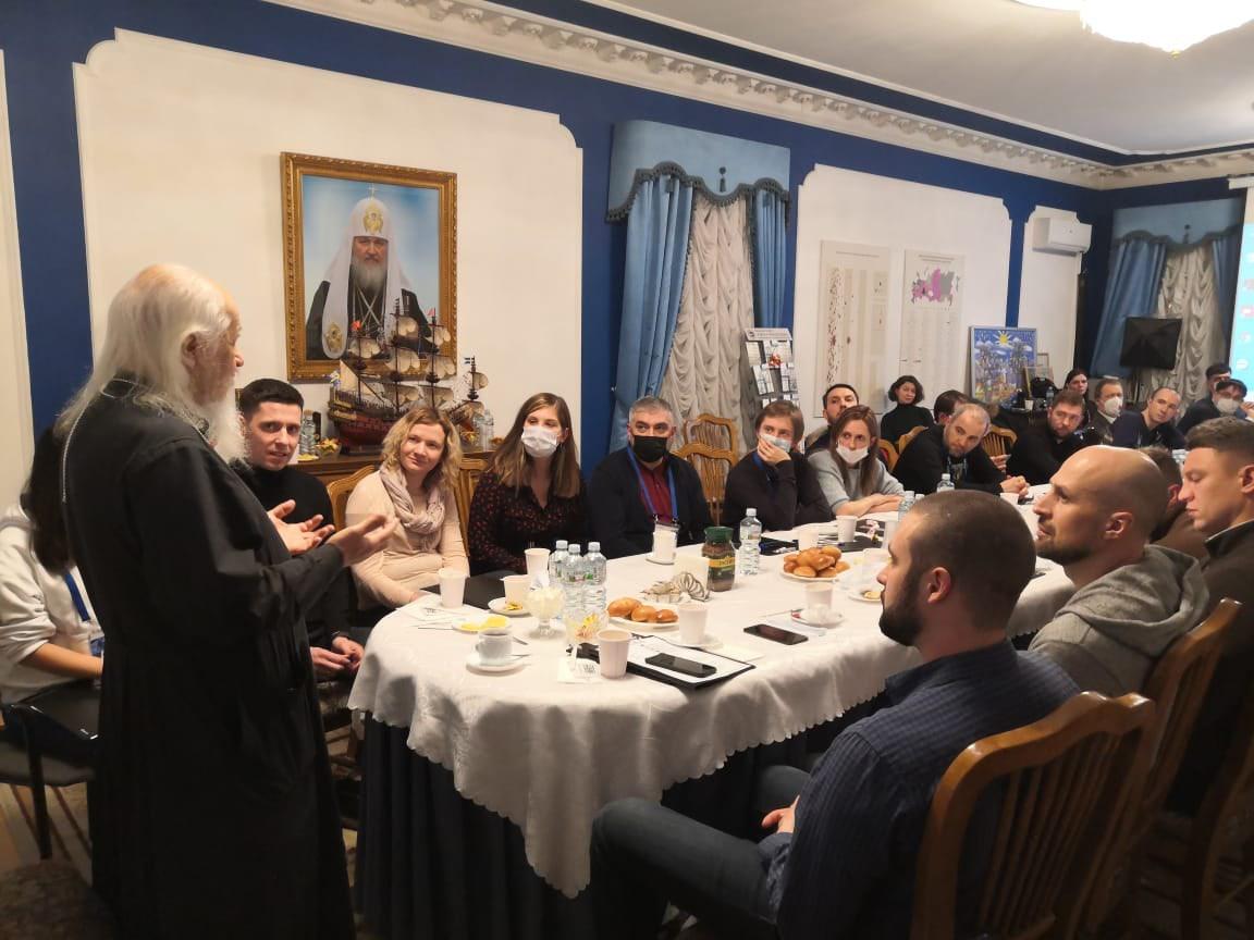 Председатель Синодального отдела по благотворительности епископ Орехово-Зуевский Пантелеимон на встрече с победителями конкурса «Лидеры России»