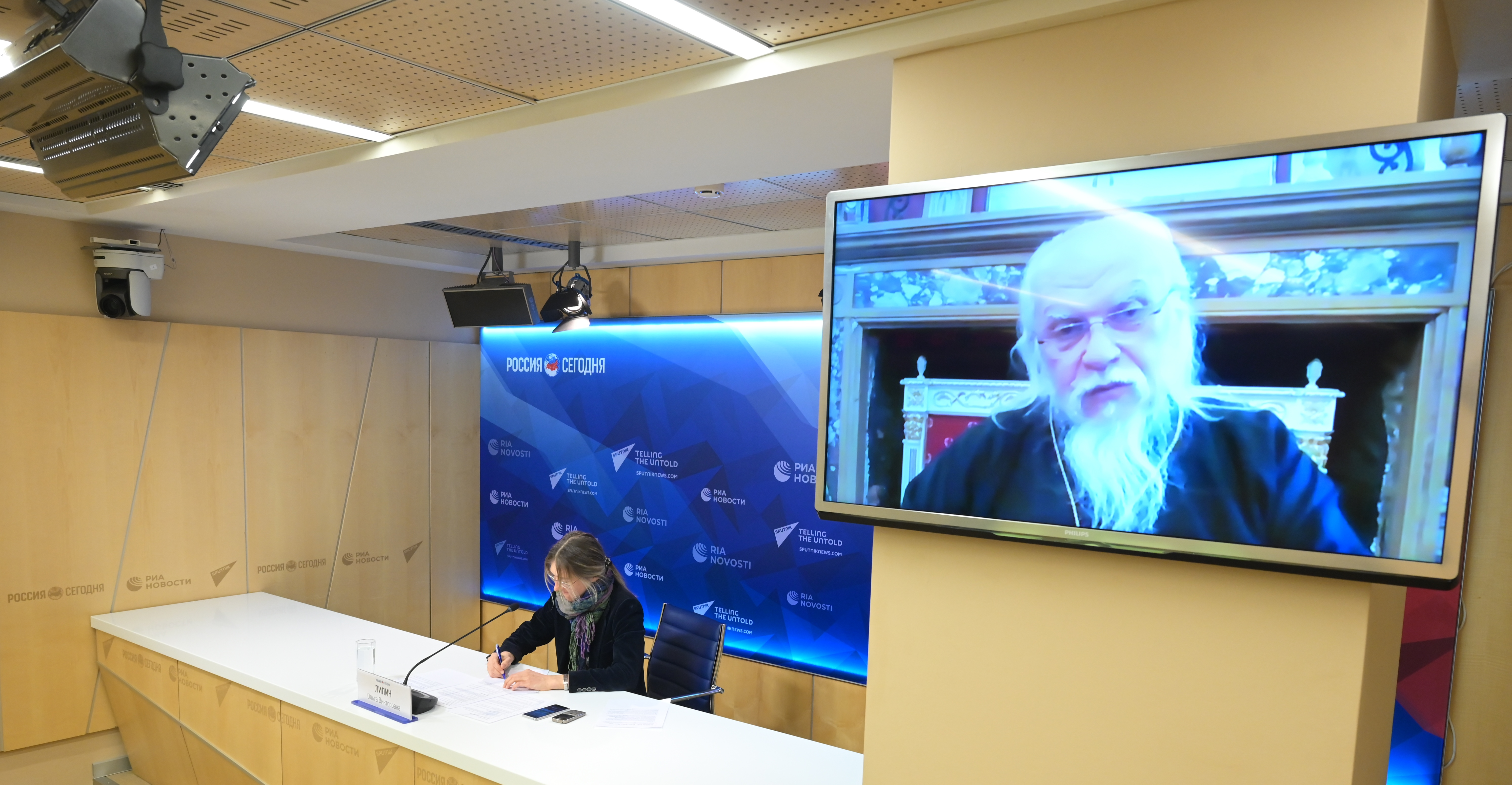 Председатель Синодального отдела по благотворительности епископ Орехово-Зуевский Пантелеимон. Фото: МИА «Россия сегодня»