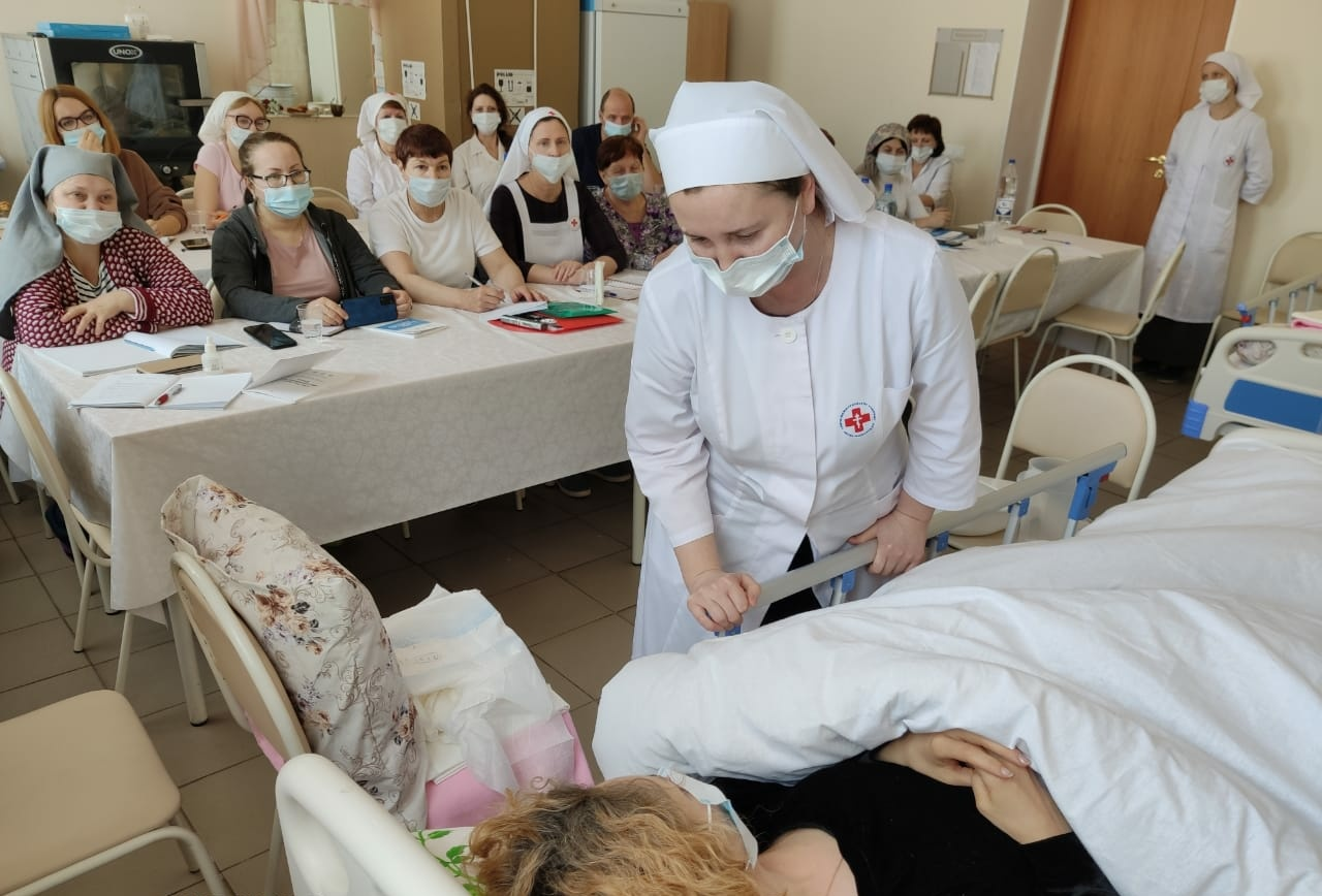 Практические занятия по уходу за тяжелобольными в Самаре