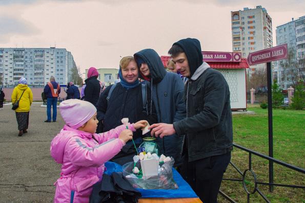 Благотворительная акция «Белый цветок» в Казани