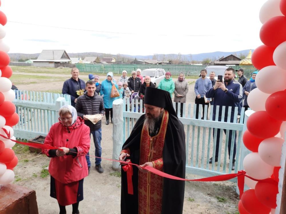 Открытие центра гуманитарной помощи в селе Мостовка в Бурятии
