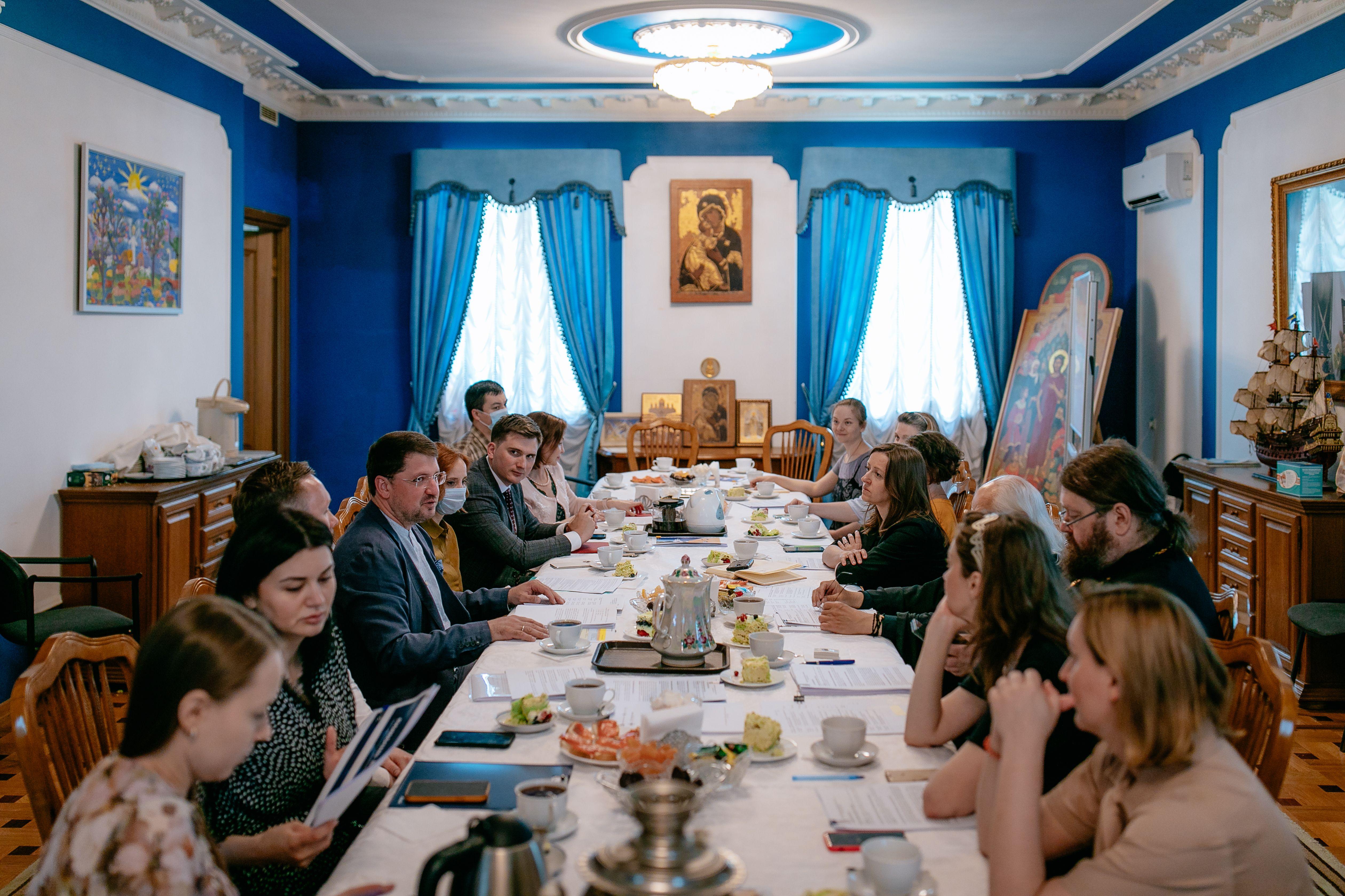 Встреча представителей Церкви и Департамента труда и соцзащиты Москвы. Фото: пресс-служба Департамента труда и соцзащиты Москвы