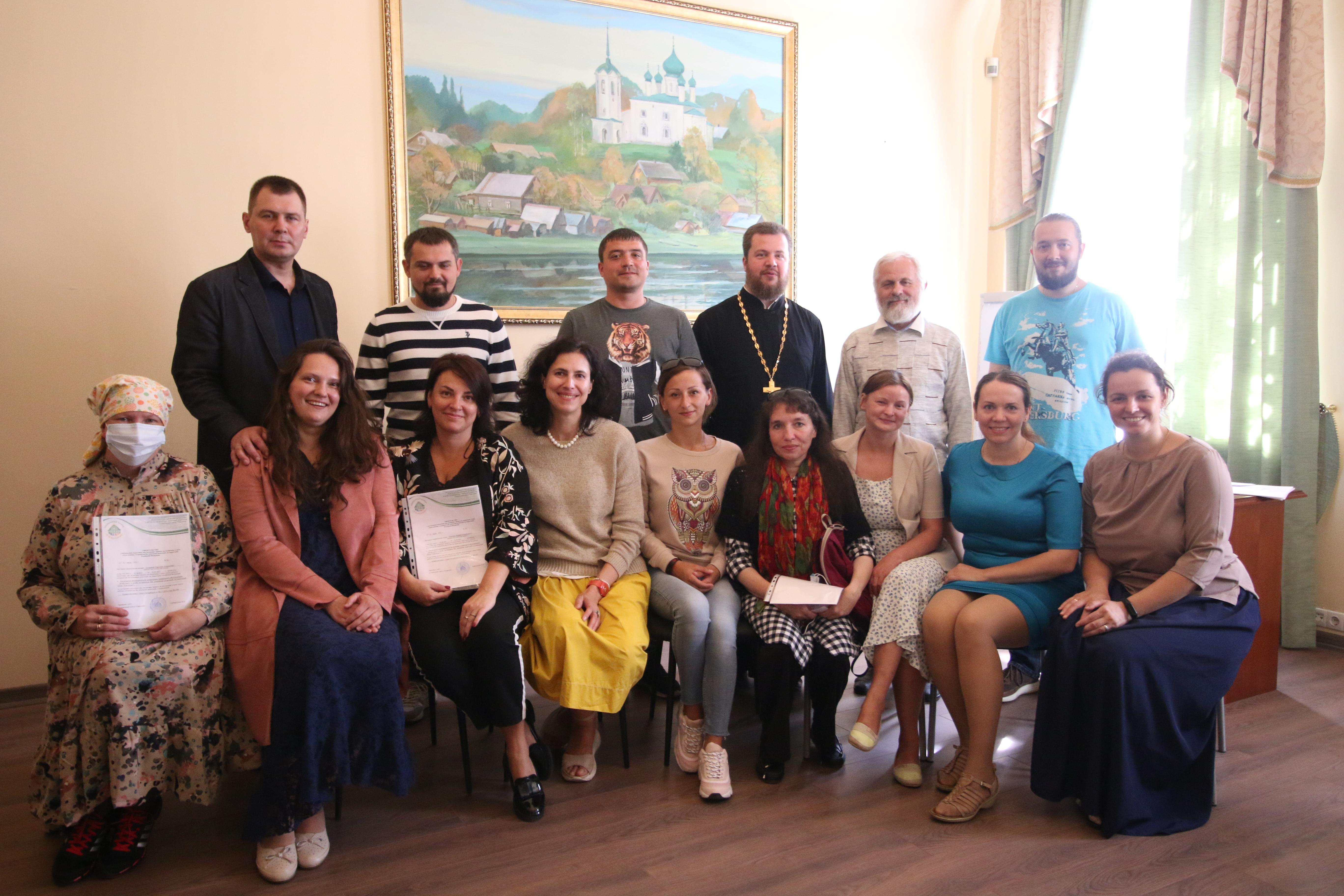 Выпускники 7-й группы православной школы приемных родителей «Умиление» в Санкт-Петербурге