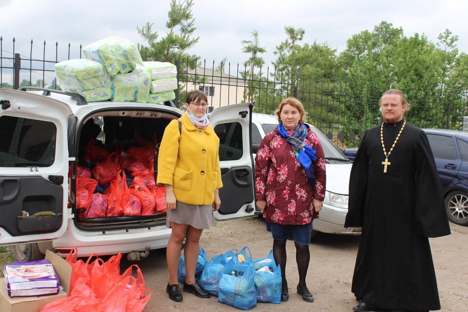 Выездной центр гуманитарной помощи в селе Романовка Саратовской области