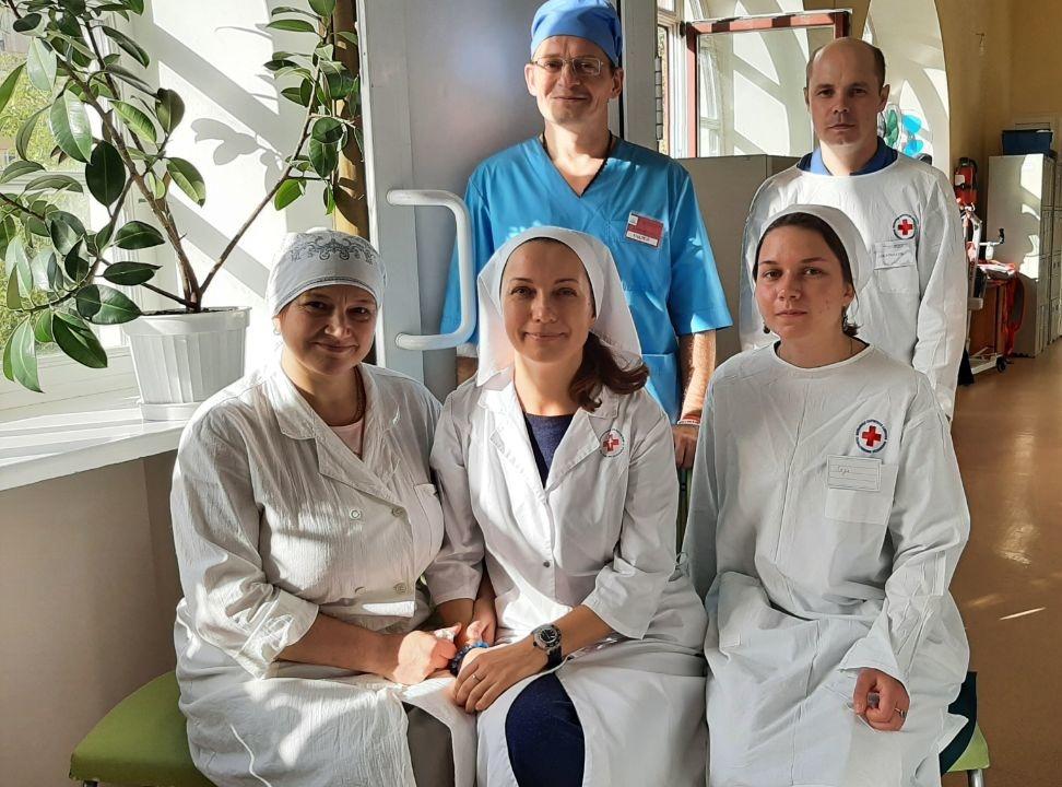 Православные добровольцы в больнице