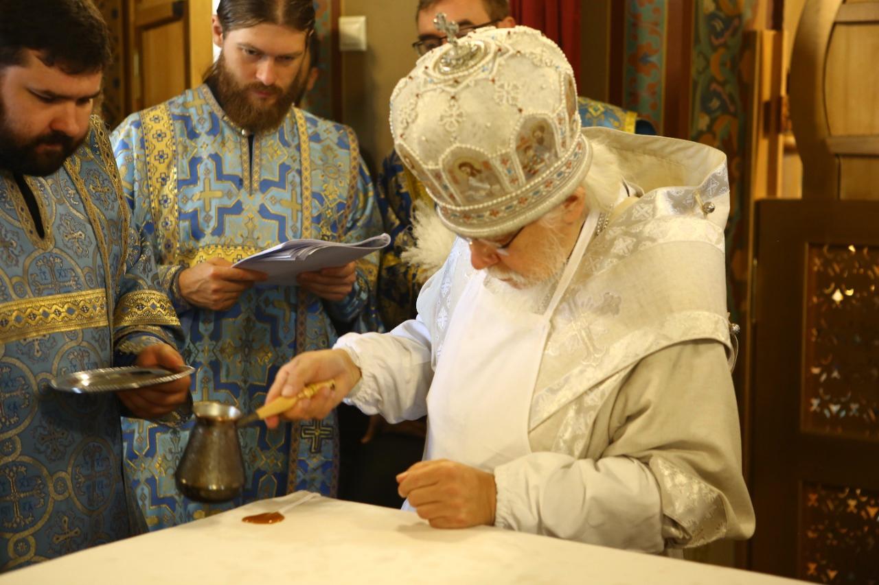 Освящение храма в честь Святителя Алексия Московского на территории церковной больницы. Фото: пресс-служба Больницы Святителя Алексия